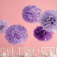 Martha Stewart Purple Pom Pom Set - Pack of 5