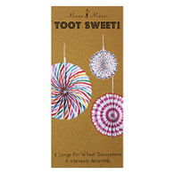 Meri Meri Toot Sweet Pinwheel Decoration - Pack of 6