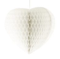 Large Heart Shaped Honeycomb 38 cm White