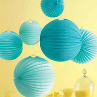 Martha Stewart Blue Accordion Lanterns - Pack of 6