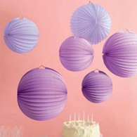 Martha Stewart Purple Accordion Lanterns - 6pk
