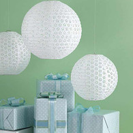 Martha Stewart White Eyelet Lanterns - Pack of 3