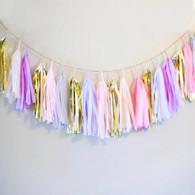 Studio Mucci Misty Pink Tassel Garland