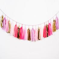Studio Mucci Speckled Pink Tassel Garland