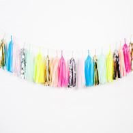 Studio Mucci Neon & Pastel Confetti Tassel Garland