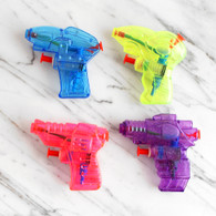 Assorted Rainbow Mini Water Pistols - Pack of 4