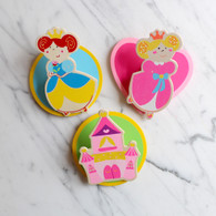 Magnetic Wooden Clip, Princesses - Pack of 3