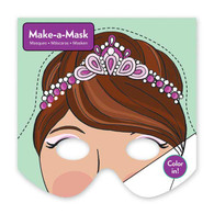 Mudpuppy Make a Mask Princess  - 20 sheets