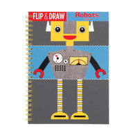 Mudpuppy Robots Flip & Draw Book