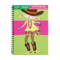 Mudpuppy Let's Dress Up Flip & Draw Book