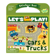 Peaceable Kingdom Let's Play Sticker Book Cars & Trucks