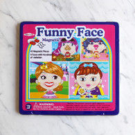 Magnetic Funny Face Girl Tin Box