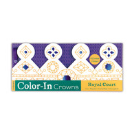 Mudpuppy Colour In Hats & Crown Court - Pack of 8