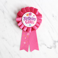 Birthday Girl Award Ribbon Badge