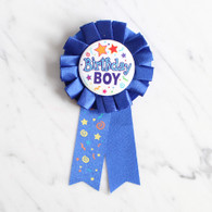 Birthday Boy Award Ribbon Badge