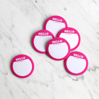 Pink Name Badges - Pack of 6