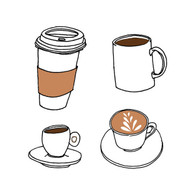 Tattly Body Tattoo Coffee - Pack of 2