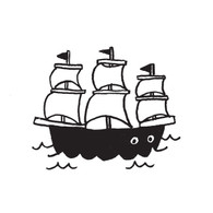 Tattly Body Tattoo Ship - Pack of 2