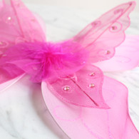 Butterfly Wings, 2 Layers, Hot Pink
