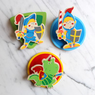 Magnetic Wooden Clip, Knights - Pack of 3