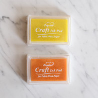 Oil Based Stamp Ink Pad, Yellow or Orange