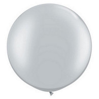 "36"" Giant Balloon Pearl Silver"