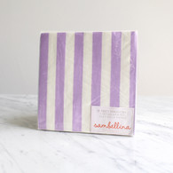 Sambellina Lavender Stripe Napkins - Pack of 20