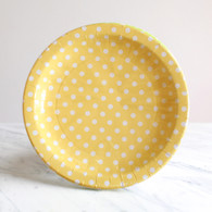 Sambellina Yellow Polka Dot Plates - Pack of 12