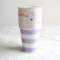 Sambellina Lavender Stripe Cups - Pack of 12