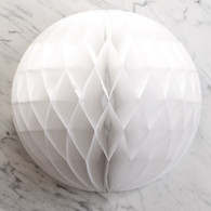 White Honeycomb Deco Ball 30cm