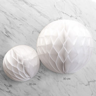 White Honeycomb Deco Ball 20cm