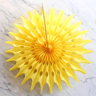 Starburst Yellow 50cm Paper Fan