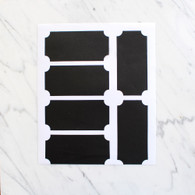 Blackboard Stickers - Pack of 6 (9.5x4.5cm)