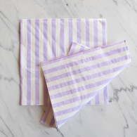 Lavender Stripe Napkins - Pack of 20