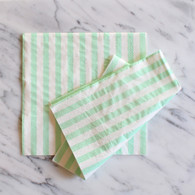 Mint Stripe Napkins - Pack of 20