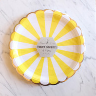 Meri Meri Toot Sweet Yellow Large Plates - Pack of 8