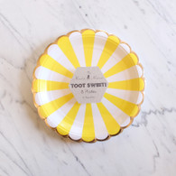 Meri Meri Toot Sweet Yellow Cake Plates - Pack of 8