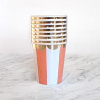 Meri Meri Toot Sweet Orange Cups - Pack of 8