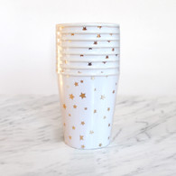 Meri Meri Toot Sweet Gold Star Cups - Pack of 8