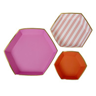 Meri Meri Toot Sweet Pink Platter Set - Pack of 3