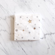 Meri Meri Toot Sweet Silver Star Cocktail Napkins - Pack of 16