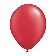 "Qualatex Latex Balloon 11"", Pearl Ruby Red - Pack of 10"