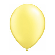 "Qualatex Latex Balloon 11"", Pearl Lemon Chiffon - Pack of 10"
