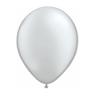 "Qualatex Latex Balloon 11"", Silver - Pack of 10"