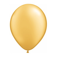 "Qualatex Latex Balloon 11"", Gold - Pack of 10"