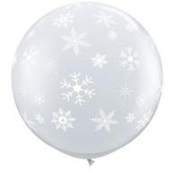 "36"" Giant Balloon Clear Snowflakes"