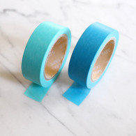 Candy Coloured Plain Washi Tape, Blues - 10m Roll