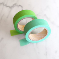Candy Coloured Plain Washi Tape, Greens- 10m Roll