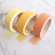 Candy Coloured Plain Washi Tape, Yellows- 10m Roll