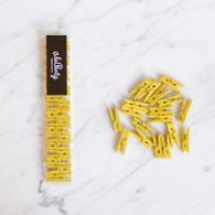 2.5cm Mini Wooden Pegs, Yellow - Pack of 18